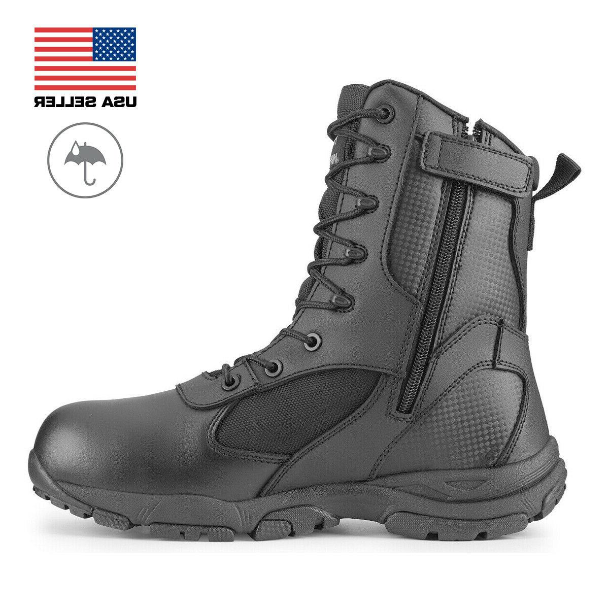 Maelstrom® TAC ATHLON Men's 8'' Black Waterproof Boots With