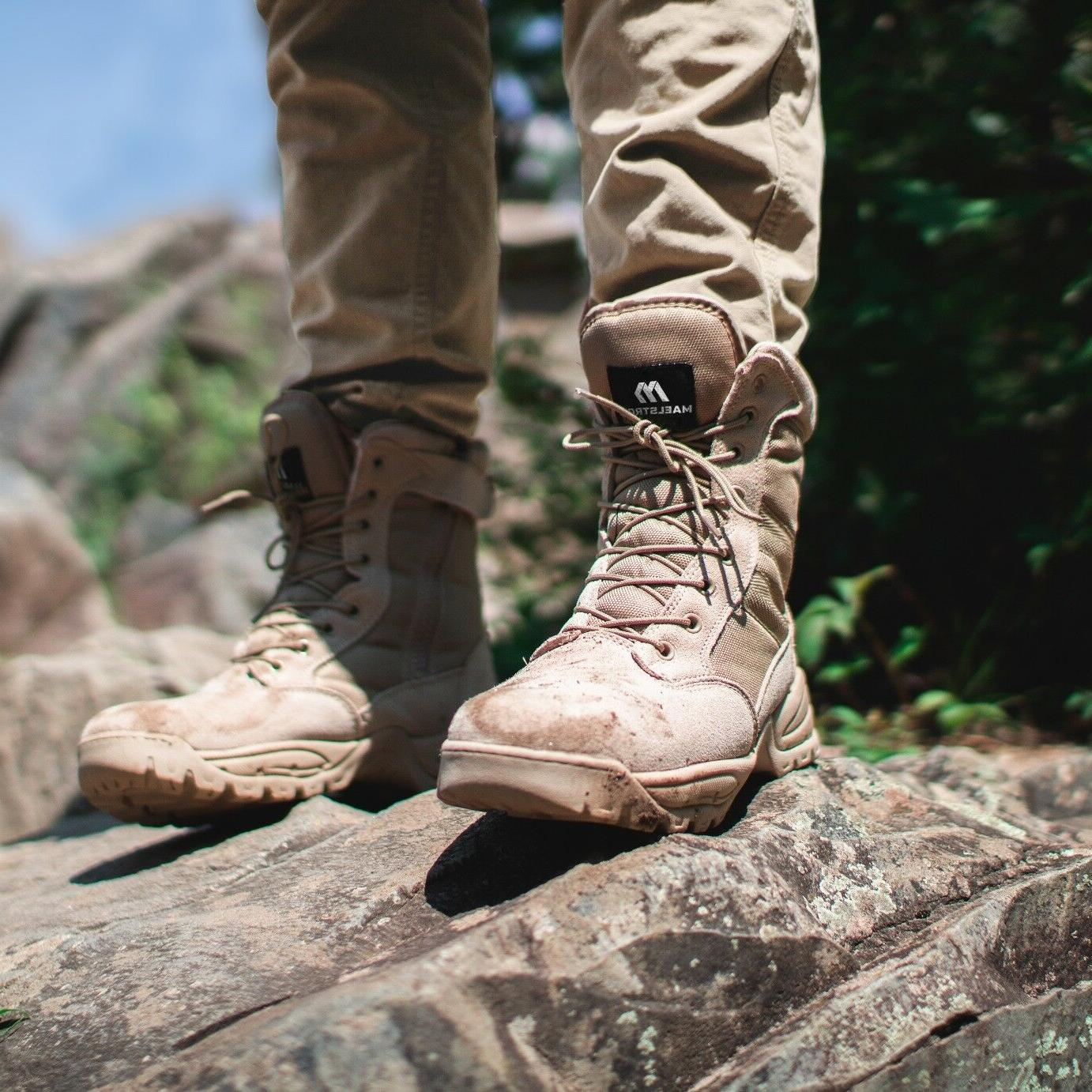 Maelstrom® TAC 8'' Military Tactical Work Boots Zipper