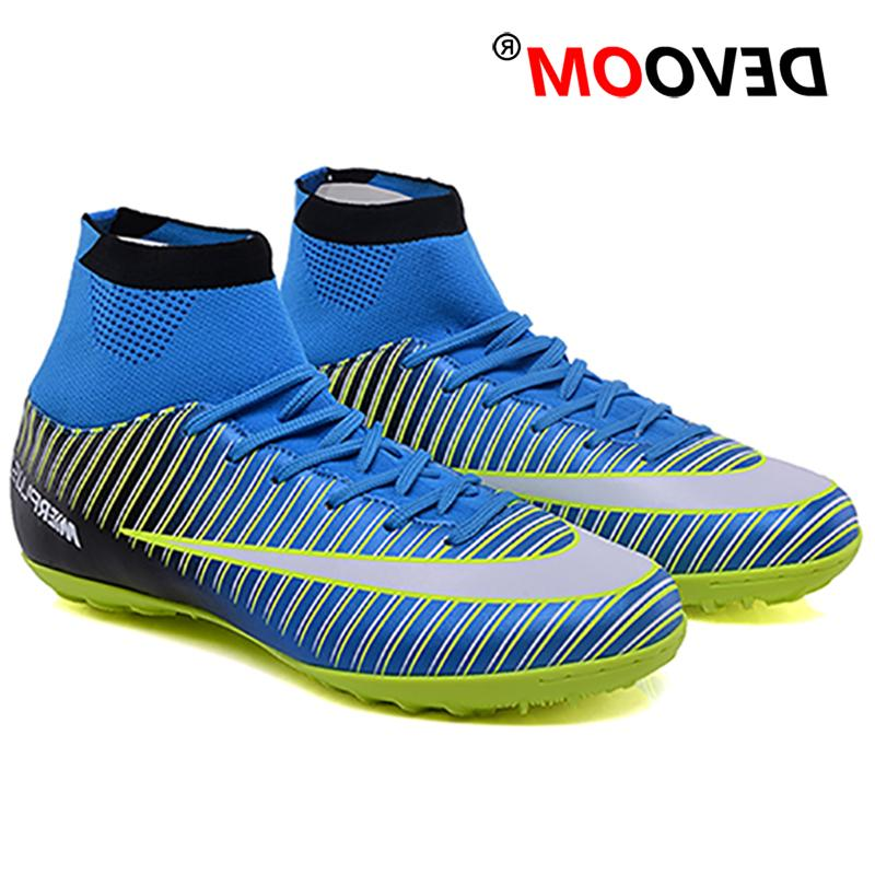 Turf Soccer Shoes voetbal Training Football High Man Cleats foot