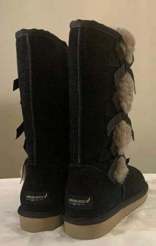 KOOLABURRA UGG, TALL 1015875 BLACK, 10 WOMAN'S BOOTS NEW