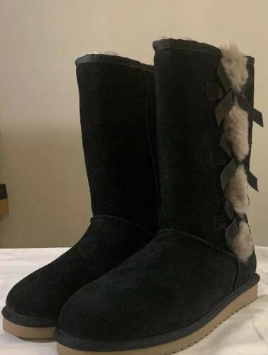 KOOLABURRA BY UGG, VICTORIA TALL 1015875 BLACK, 10 WOMAN'S BOOTS NEW