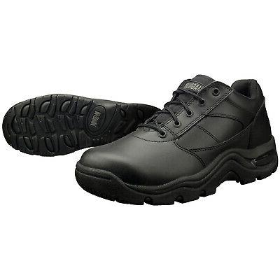 viper low slip resistant black leather work