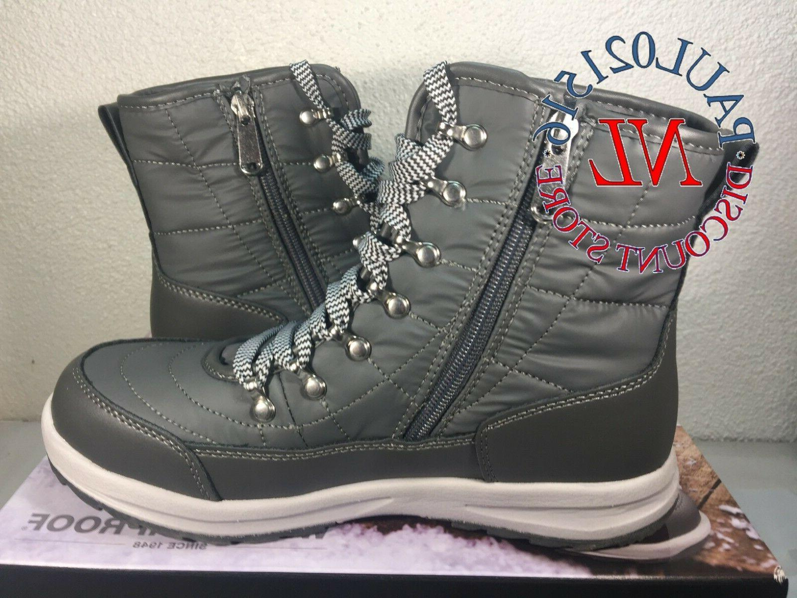 NEW Women's Faux Winter Boots~ Gray Size