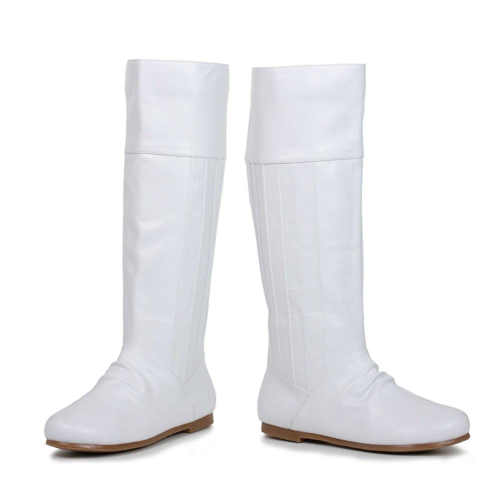 White Princess Leia Star Wars Cosplay Costume Knee High Boot