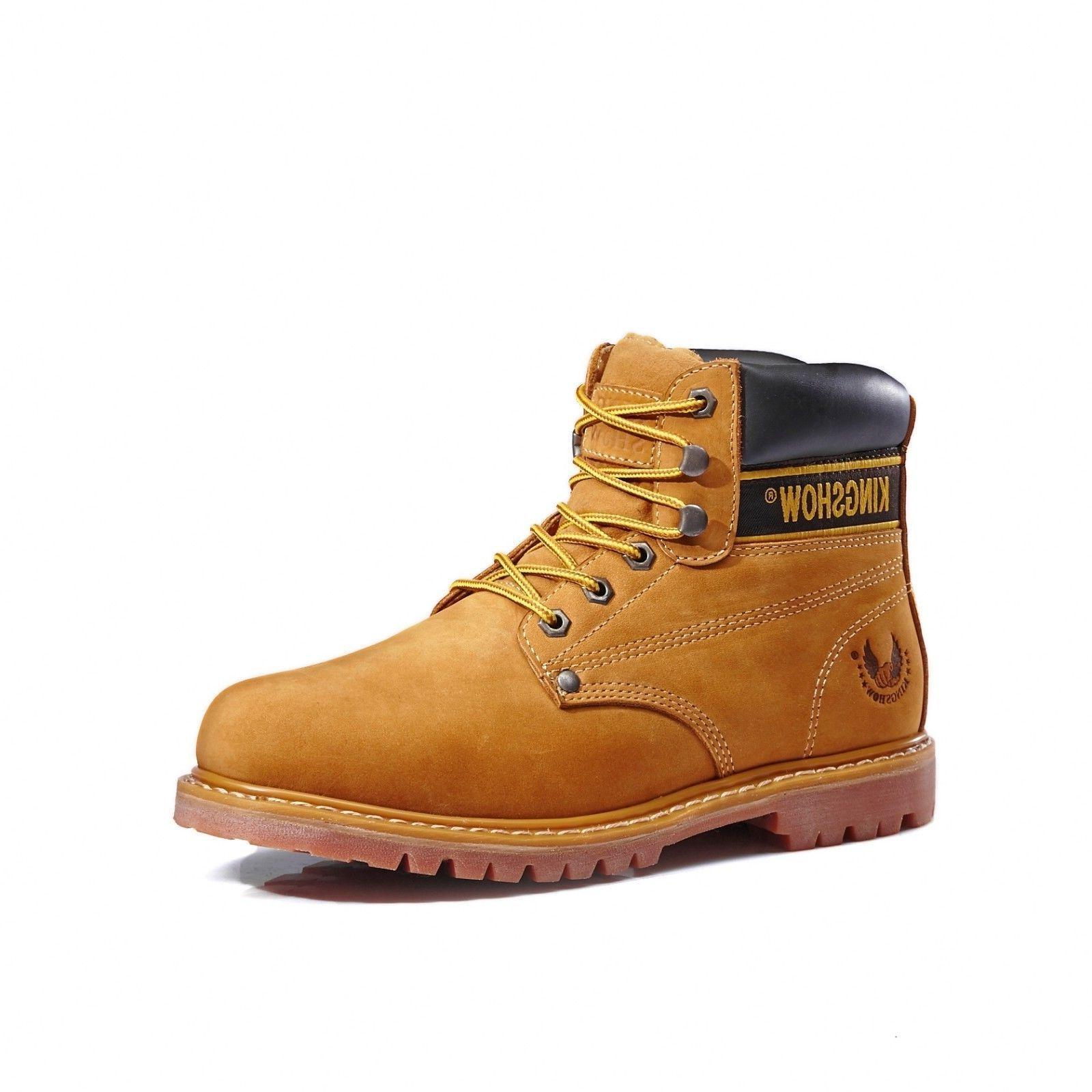Mens Boots Shoes Leather Waterproof