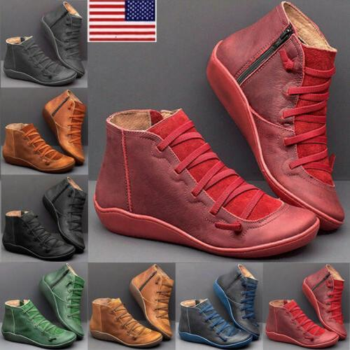 women ankle boots arch support suede stitch