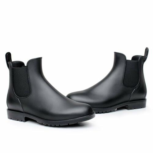 women man neutral short rain boots waterproof