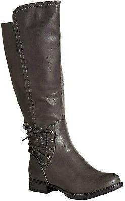 Women PU Leather SIZE 6 B Fashion Boot MID-CALF BOOTS Rain S