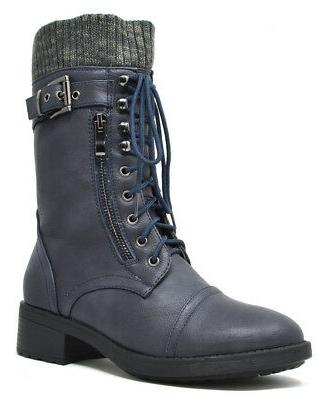 DREAM Women's Mid Up Military Boots