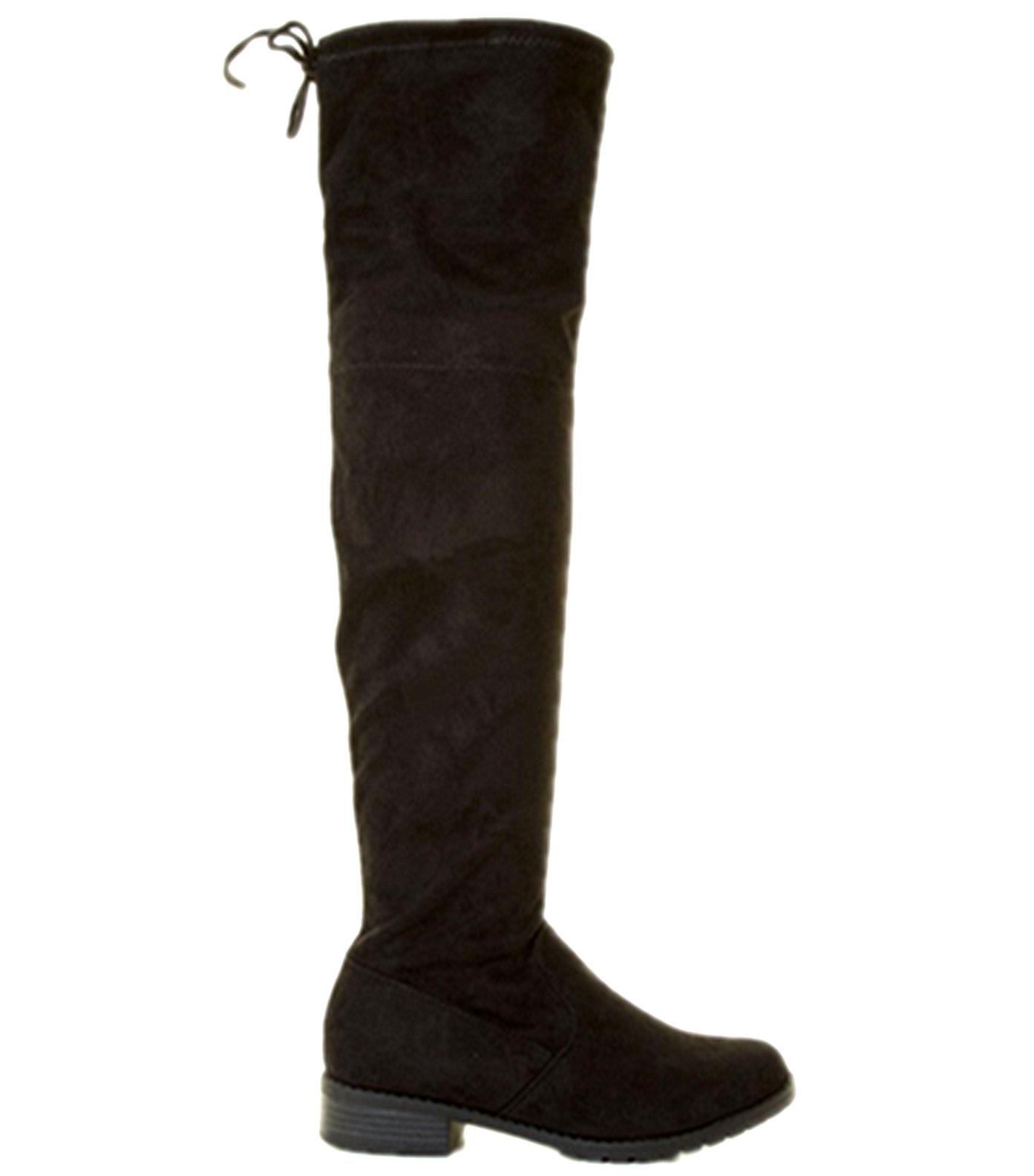 Forever Womens&Kids Over Knee High Drawstring Tie Lace Up Ch