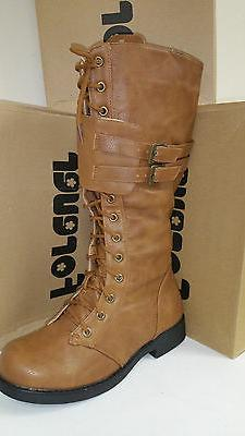 Women's Forever Link Andrea-12 High Tan Lace Up Boots Multip