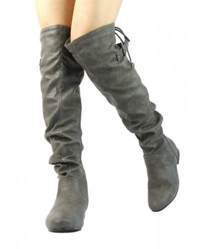 DREAM PAIRS Women's Over The On Boots