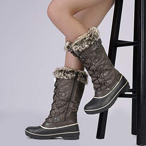 DREAM DP-Avalanche Brown Faux Boots 7 US