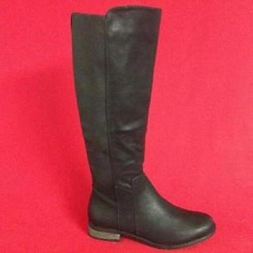 Women's RAMPAGE ILLUSION Black Knee High Pull On Riding Dres