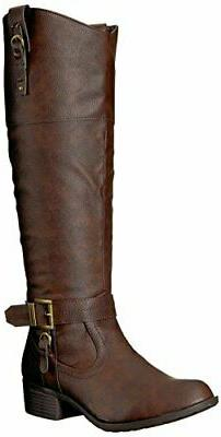 Rampage Women's Ivelia Fashion Knee High Casual Riding Boot,