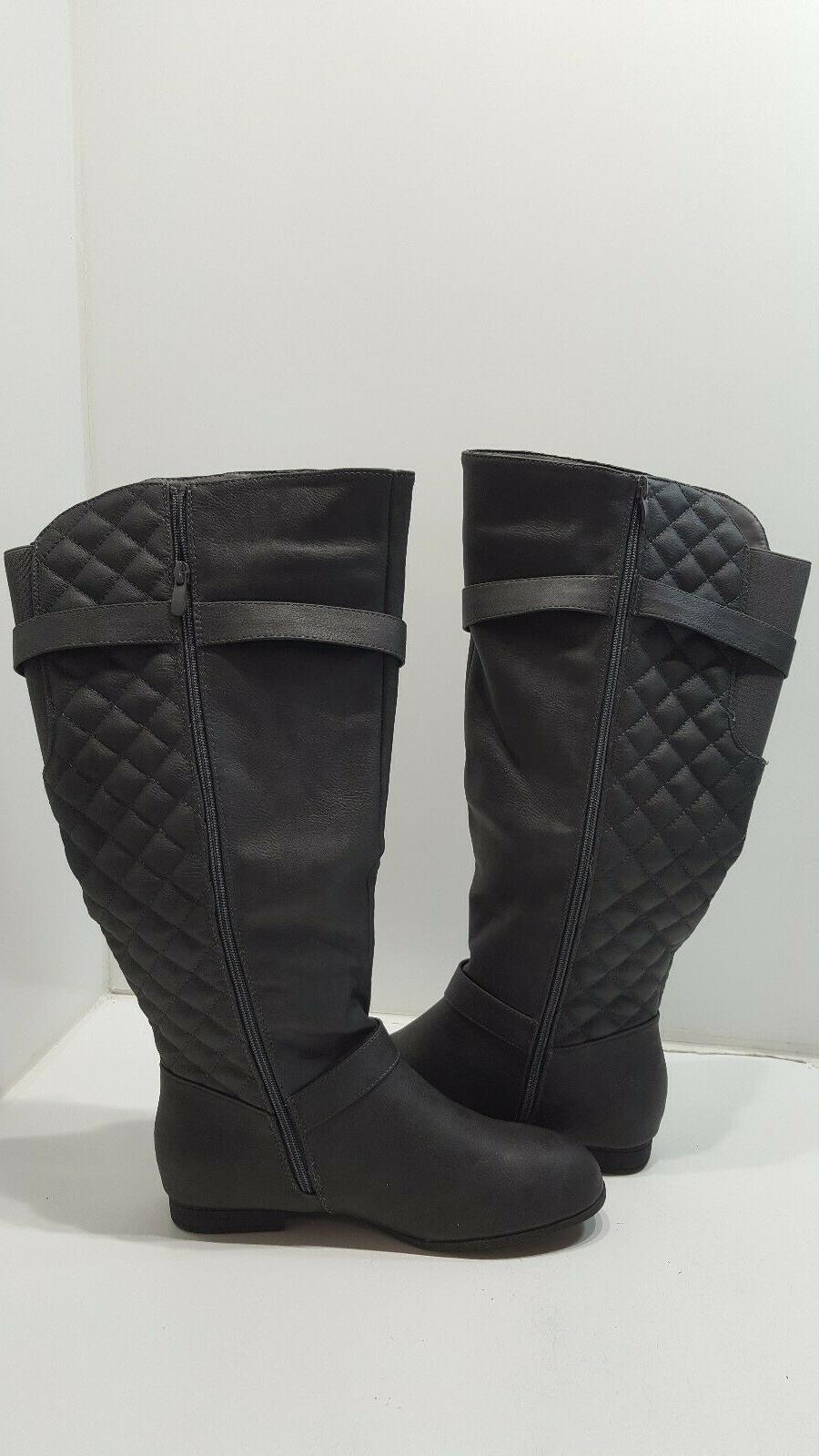 Global Win Knee High Boots Side Zip Size 10