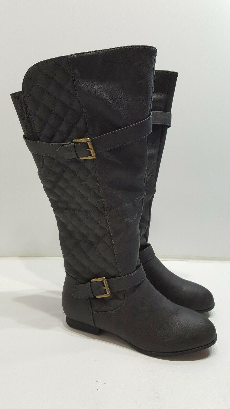 Global High Boots Zip Size 10 Gray