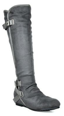 DREAM High Wedge Riding Boots