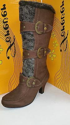 Women's Forever Link Maggie 78 High Brown Boots Multiple Siz