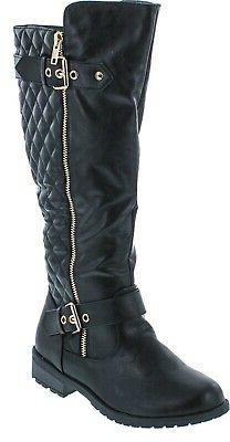 Forever Link Women's Mango-21 Quilted Zipper Accent Riding B