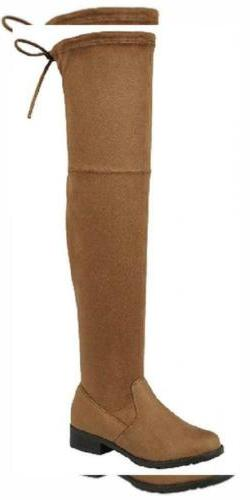 Forever Link Women's Over The Knee Thigh High Flat Boot