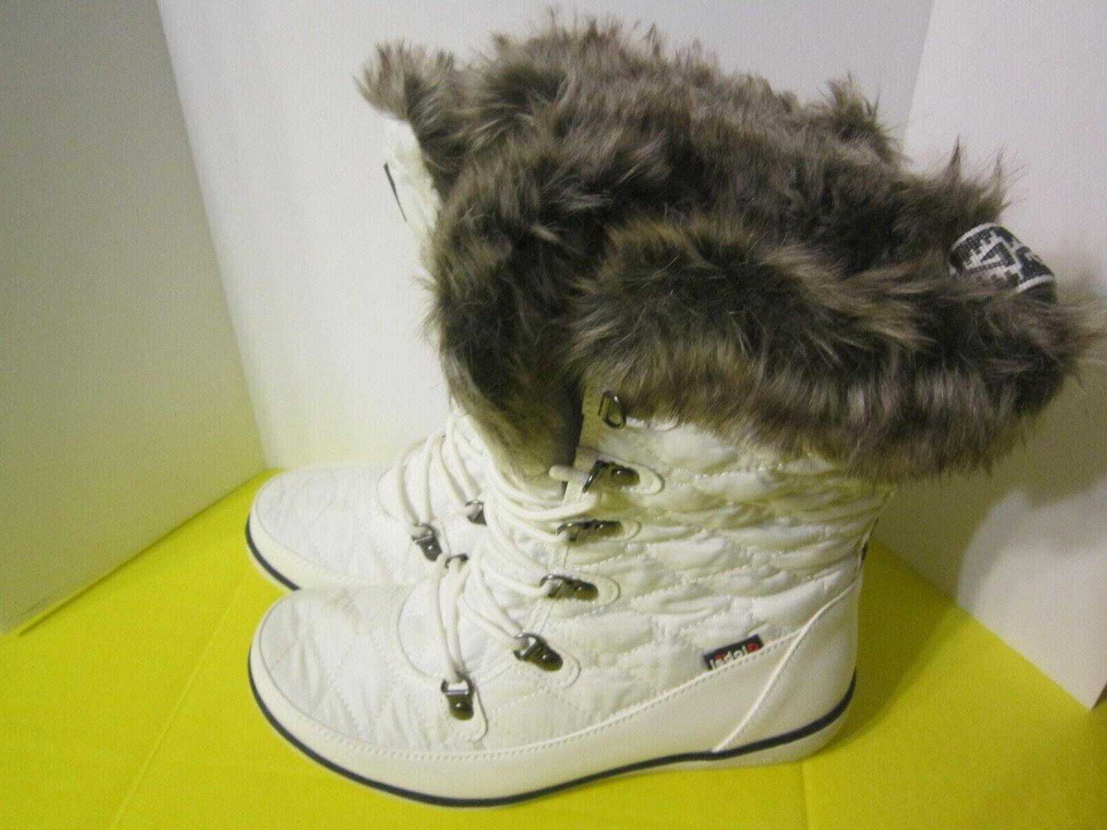 Global Win Fur Quilted Up Snow White Size 9.5