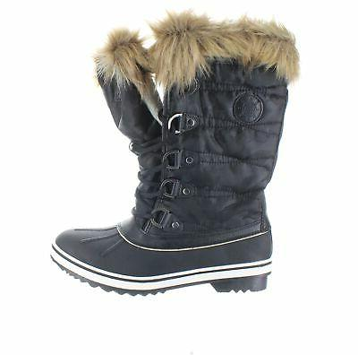 womens black snow boots size 9 5