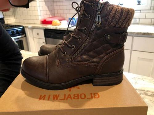 Global Win Lace-Up Boots 8 - WORN