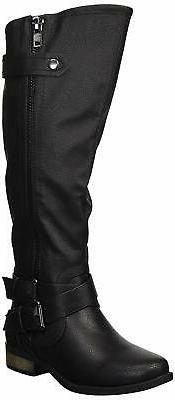 Rampage Womens Hansel Closed Toe Knee High Fashion Boots, Bl