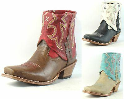 womens steppin out cuff leather cowboy western