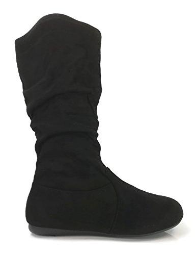 Wells Boots Soft to Knee High, Black-23,