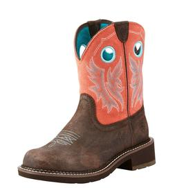 Ariat® Ladies Fatbaby Heritage Cowgirl Chocolate Coral Boot