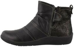 Earth Origins Liberty  Boots Leather Womens Ankle Boots  Low