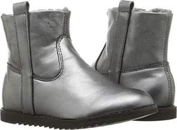 Old Soles Baby Girl's Lounge Boot  Rich Silver/Dark Silver 3