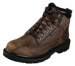 Skechers MAKANIX-MENNOT Mens Brown STEEL TOE 77190/BRN Water