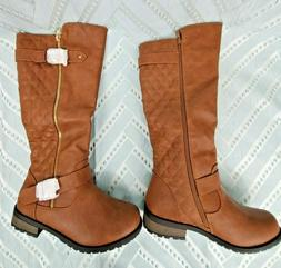 Forever Link Mango-21 Lady Boot Tan Riding Boot Style - Size