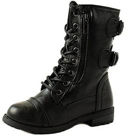 Mango 61K Little Kids Combat Lace Up Boots Black 1
