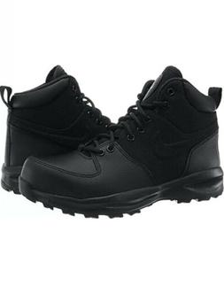 NIKE MANOA BOOTS LEATHER/TEXTILE TRIPLE BLACK SZ 9.5 456975-