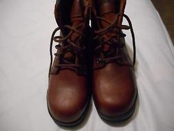 Marquette Steel Toe Boots by Wolverines- Brown- 8 Wide- New
