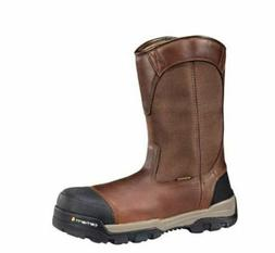 """Carhartt Men's 10"""" WP Composite Toe EH Pull On Work Boot CME"""