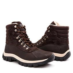 KINGSHOW Men's 1705 Brown Snow Boots 12 US
