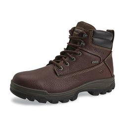 "WOLVERINE MEN'S 6"" WATERPROOF SOFT TOE WORK BOOTS Oil and Sl"