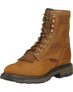 """MEN'S 8"""" LACE UP ARIAT WORKHOG WESTERN WORK BOOTS 10016266 S"""