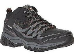 Skechers Afterburn Mid Top Men's Hiking Boots Black+Gray Mem