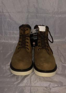 "Dickies Men's Bearcat 6"" Soft Toe Work Boot Brown Leather NI"