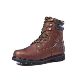 """KINGSHOW Men's Brown 8"""" Work Boots Shoes Oily Leather Reflec"""