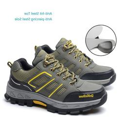 Men's Construction Breathable Working Safety Shoes Steel Toe