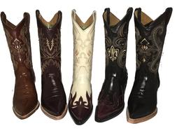 Men's Cowboy Boots Chameleon Print Leather Western Rodeo Bot