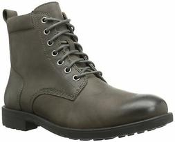 206 Collective Men's Denny Lace-up Motorcycle Boot Charcoal