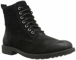 206 Collective Men's Denny Lace-up Motorcycle Boot Black Bur